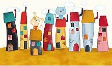 songying Cartoon Thema Tapete Kinderzimmer Junge