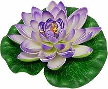 Sonline Schwimmende Lila Lotus Dekoration fuer Aquarium Gartenteich