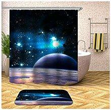 SonMo Duschvorhang+Badematte Waschbar