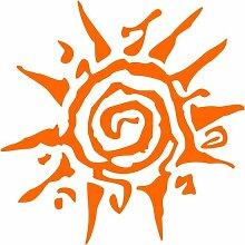 Sonne Aufkleber 001, 40 cm, orange