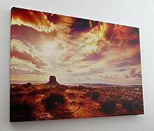 Sonne Australien Steppe Wolken Leinwand Bild