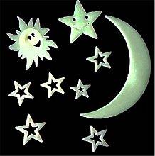 Sonne / Mond Leuchtende Sterne Fluoreszierender