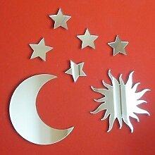 Sonne, Mond & Sternen Spiegel - 20 x 20 cm