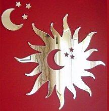 Sonne, Mond & Sternen Spiegel - 30 x 30 cm