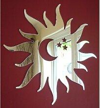 Sonne, Mond & Sternen Spiegel 35cm Funky Acryl