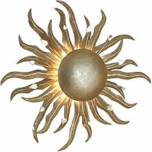 Sonne Piccola Eisen Wandleuchte in Blattsilber |