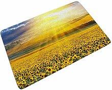 Sonneblumen Sonnenuntergang Fußmatte Türmatte