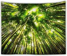 Sonnenaufgang Wald Dschungel Wandteppich Natur