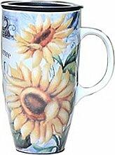 Sonnenblume-Bauernhof-Becher Kaffeehaferl Großes