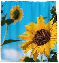 Sonnenblume Duschvorhang mit Anti-Schimmel-Effekt,