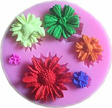 Sonnenblume geformter Schokolade Candy 3D Silikon Form Kuchen Werkzeuge