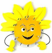 Sonnenblume Ländlich Kreative Stumme Mode Wohnzimmer Schlafzimmer Persönlichkeit Wanduhr Dekoration Uhr