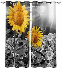 Sonnenblume Lokale Farbe Fenster Vorhänge Für