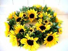 Sonnenblume Sonnenblumenkranz Türkranz Herbst Kranz Dekokranz künstlich Deko 35cm