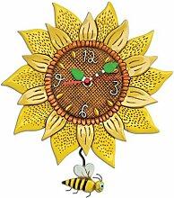 Sonnenblume Wanduhr mit Pendel von Michelle Allen