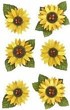 Sonnenblumen 3D-Aufkleber