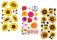 Sonnenblumen-Aufkleber für Scrapbooking |