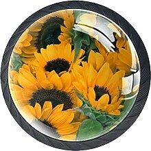 Sonnenblumen Pflanzen, 4er-Pack ABS-Harz