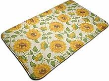 Sonnenblumen rutschfester Teppich Traditioneller