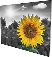 Sonnenblumen-Wandkunst, Landhaus-Baddekor,