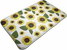 Sonnenblumenmuster Rutschfester Teppich