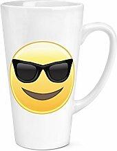 Sonnenbrille Emoji 17oz groß Latte Becher Tasse