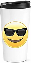 Sonnenbrille Emoji Reise Becher Tasse
