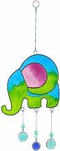 Sonnenfänger-Mobile, Ethisch gehandelt, blau/grün, Elefant, schÖnes Geschenk für jede Gelegenhei