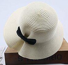 Sonnenhüte MEIDUO Visor Outdoor-Frauen-Sonnenschutz-Kappe Casual Urlaub zusammenklappbar breitkrempigen Hut Sommer Winddicht Strand Hut Anti-UV-Khaki weiß Beige rosa blau UPF 50 für Frauen