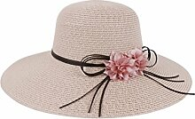 Sonnenhüte Sommer-Doppel-Blumen-Sun-Hut-Sonnenschutz-Strand-Hut-Abdeckung Der große Hut Sommer Strand Schirmmütze ( Farbe : 2 )