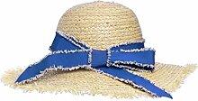 Sonnenhüte Weiblicher Sommer-Strand-Ausflug Wilder Strand-Hut Großer Dach-Sonnenschutz-Sonnenhut Sommer Strand Schirmmütze ( Farbe : 1 )