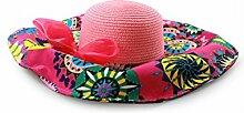 Sonnenhüte Weiblicher Sommer-Strand-Ausflug Wilder Strand-Hut Großer Dach-Sonnenschutz-Sonnenhut Sommer Strand Schirmmütze ( Farbe : 2 )