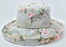Sonnenhut Strand Hut gedruckt Sonnenschutz groß entlang der faltbaren Curling Sun Hut ( Farbe : Grün )