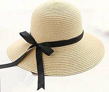 Sonnenhut Strandhut-Sonnenschutz-Damen gekräuseltes atmungsaktives Sonnenhut ( Farbe : #2 )