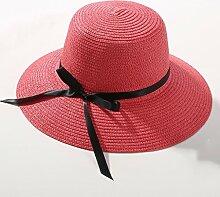 Sonnenhut Strandhut-Sonnenschutz-Damen gekräuseltes atmungsaktives Sonnenhut ( Farbe : #12 )
