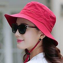 Sonnenhute YANFEI Visier-Hut zusammenklappbarer Sonnenschutz UV-Schutz Fischen-Hut (Farbe : A)