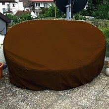 Sonneninsel Schutzhülle Oval 235cm Braun PREMIUM