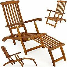 Sonnenliege Holz Deckchair Holzliege Gartenliege