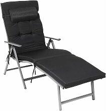 Sonnenliege, klappbar, Liegestuhl mit 6 cm dicker