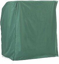 Sonnenpartner Schutzhülle für 1-Sitzer Strandkörbe grün, mittelschwere Ausführung