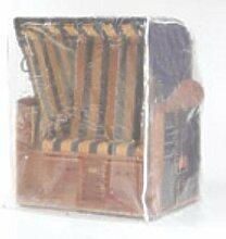 Sonnenpartner Schutzhülle transparent für Strandkorb 2 Sitzer XL 70090029