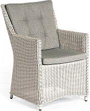 Sonnenpartner Sessel Hamilton, Kunststoffgeflecht silber-grau inkl. Sitz- und Rückenkissen