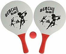 Sonnenscheinschuhe® Beachball Set: 2 Schläger