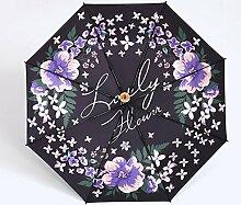 Sonnenschirm Frau Sonnenschutz Dual-use Regenschirm Reizende Prinzessin Kleine frische Falte ( Farbe : #2 )