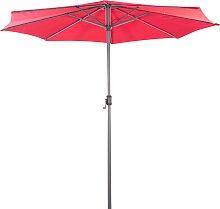 Sonnenschirm Marktschirm 3m mit Sonnenschutz UV 50+ in rot
