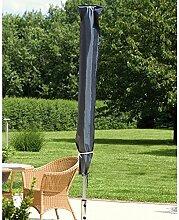 Sonnenschirm Schutzhülle für Schirm-Ø 200 250 300 350 400 cm Abdeckhaube grau
