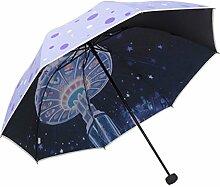 Sonnenschirm Sonnenschutz Anti UV-Strahlen Sonnenschirm Doppelzweck-Regenschirm,04