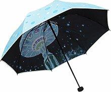 Sonnenschirm Sonnenschutz Anti UV-Strahlen Sonnenschirm Doppelzweck-Regenschirm,06