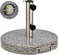 Sonnenschirm-Ständer Schirmständer Granit ~ 30 kg marmorier