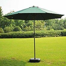 Sonnenschirme Garten-Rasen Markt-Patio-Tabellen-Sonnenüberdachungs-Stahl-Pfosten-Regenschirm UVschutz im Freien (Farbe : Dunkelgrün)